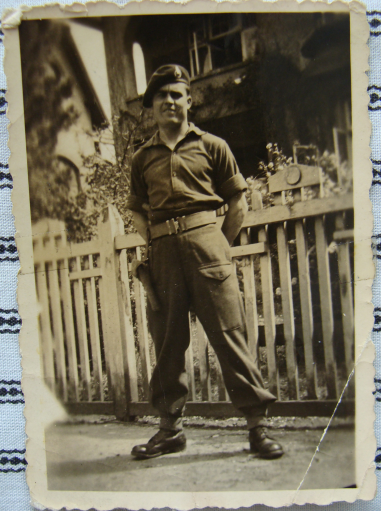 Marine Fred Harris, at the end of the war.