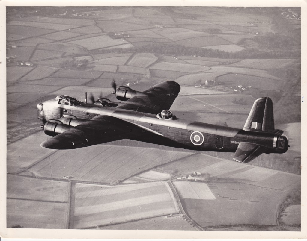 Bomber: a striking air-to-air shot of a Stirling.